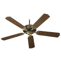 Quorum Lighting Capri I Antique Brass Ceiling Fan Without Light