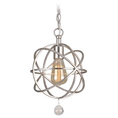 Crystorama Lighting Solaris Olde Silver Mini-Pendant Light