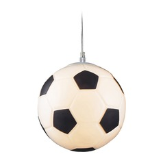 Elk Lighting LED Mini-Pendant Light with Soccer Ball Shade
