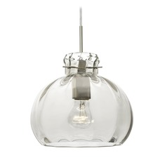 Besa Lighting Pinta Satin Nickel Pendant Light