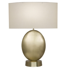 Fine Art Lamps Grosvenor Square Antique Brass Table Lamp with Drum Shade