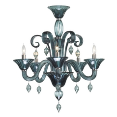 Cyan Design Treviso Chrome with Indigo Smoke Chandelier