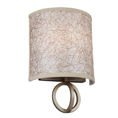 Feiss Lighting Parchment Park Burnished Silver Sconce