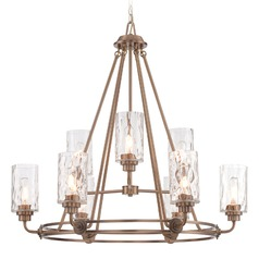 Designers Fountain Gramercy Park Old Satin Brass Chandelier