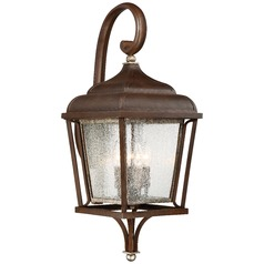 Minka Astrapia Dark Rubbed Sienna with Aged Silver Outdoor Wall Light