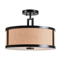 Keen Bronze Semi-Flushmount Light by Kenroy Home