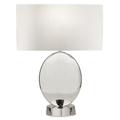 Fine Art Lamps Grosvenor Square Polished Nickel Table Lamp with Drum Shade