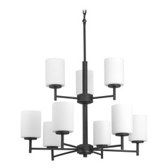 Progress Lighting Replay Black Chandelier