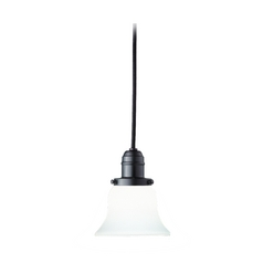 Hudson Valley Lighting Mini-Pendant Light with White Glass 3101-OB-341