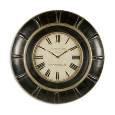 Clock in Rustic Black / Grey Finish