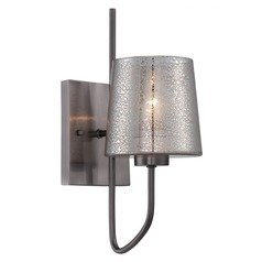 Meridian Wall Sconce with Mercury Glass Shade