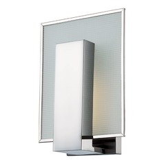 Modern LED Polished Nickel Sconce Light