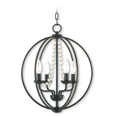 Livex Lighting Arabella English Bronze Mini-Chandelier