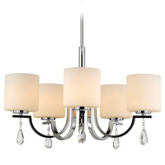 Golden Lighting Evette Chrome Chandelier