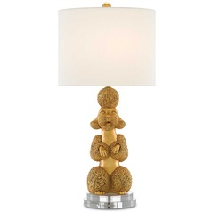 Currey and Company Phyllis Morris Royal Gold Table Lamp with Drum Shade