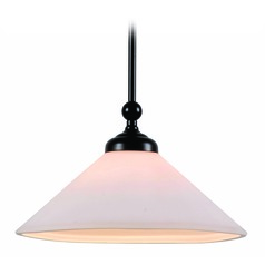 Conical Oil Rubbed Bronze Pendant Light by Kenroy Home