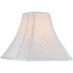 Cream Cut Corner Lamp Shade with Spider Assembly