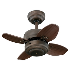 Monte Carlo Fans Compact 20-Inch Ceiling Fan with Four Blades 4MC20RB