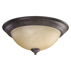 Quorum Lighting Toasted Sienna Flushmount Light
