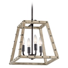 Kichler Lighting Basford Distressed Antique Gray Pendant Light