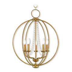 Livex Lighting Arabella Antique Gold Leaf Chandelier