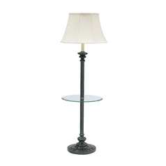 Gallery Tray Lamp with White Shade in Oil Rubbed Bronze Finish