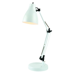 Lite Source Lighting Karolina White Desk Lamp