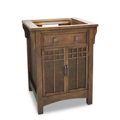 Hardware Resources Bathroom Vanity in Chestnut Finish VAN037
