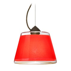 Besa Lighting Pica Bronze LED Pendant Light with Empire Shade