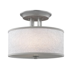 Feiss Lighting Parchment Park Dark Silver Semi-Flushmount Light