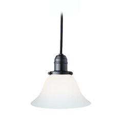 Hudson Valley Lighting Mini-Pendant Light with White Glass 3101-OB-415-M