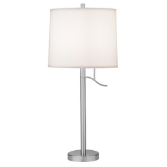 Satin Nickel Table Lamp - Shade Not Included