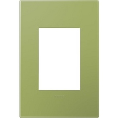 Legrand Adorne Lichen Green 1-Gang 3-Module Switch Plate