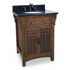 Bathroom Vanity in Chestnut Finish - Pre Assembled Top and Bowl