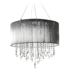 Avenue Lighting Beverly Drive Chrome Pendant Light with Drum Shade