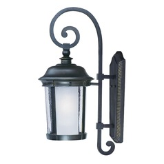 Frosted / Seeded Glass Outdoor Wall Light Bronze Maxim Lighting