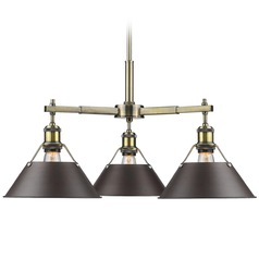 Golden Lighting Orwell Ab Aged Brass Chandelier