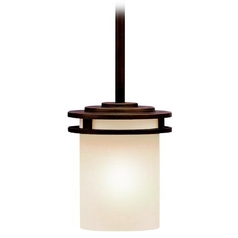 Kichler Transitional Mini-Pendant Light with Light Umber Etched Glass