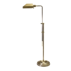 Pharmacy Lamp with White Shade in Antique Brass Finish