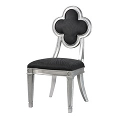 Petal Back Dining Chair In Grey