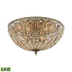 Elk Lighting Elizabethan Dark Bronze LED Flushmount Light