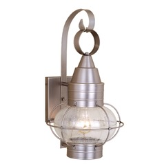 Seeded Glass Outdoor Wall Light Brushed Nickel Vaxcel Lighting