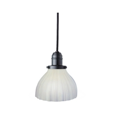 Hudson Valley Lighting Mini-Pendant Light with White Glass 3101-OB-444