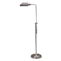 Pharmacy Lamp with White Shade in Antique Silver Finish