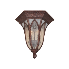 Close To Ceiling Light with Clear Glass in Burnished Antique Copper Finish