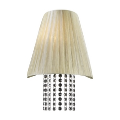 Modern Sconce Wall Light with Beige / Cream Shade in Beige Finish