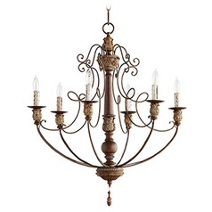 Quorum Lighting Vintage Copper Chandelier