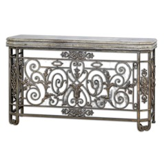 Uttermost Kissara Metal Console Table