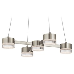 Elan Lighting Avenza Brushed Nickel LED Pendant Light