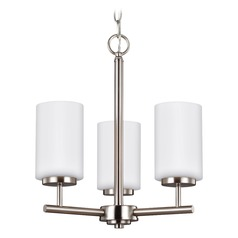 Sea Gull Lighting Oslo Brushed Nickel LED Mini-Chandelier